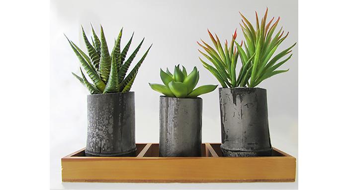 竹炭製の鉢「TAKESUMI」はインテリアとしてもおすすめ