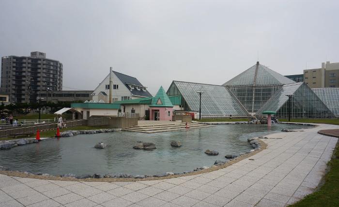 函館市熱帯植物園 水の広場