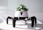 六足歩行ロボットHEXAで日向を自ら探して移動する自律移動式プランターを実現
